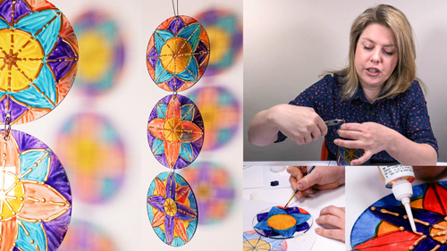 How to Design and Glass Paint a Suncatcher